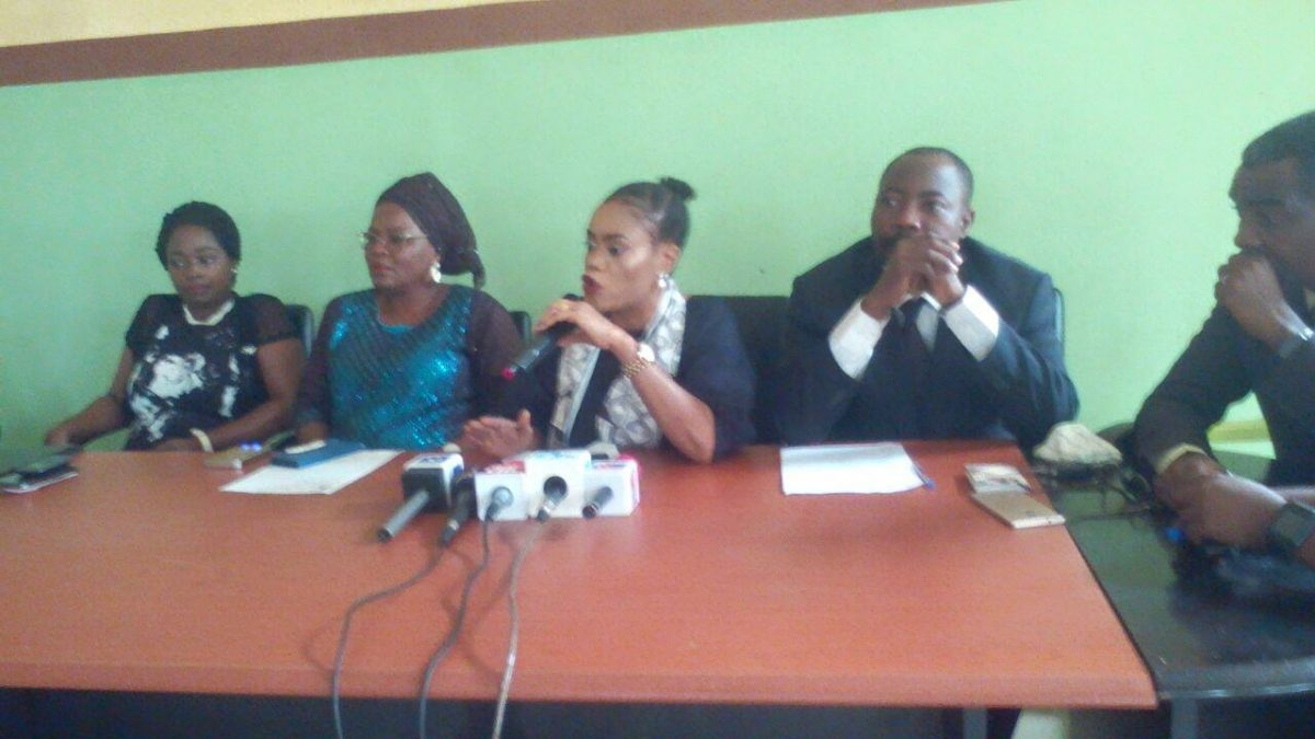 Press briefing on the inhuman treatment meted to one Mrs. Adeyeye and her two months old baby by some police officers in Ekiti State.