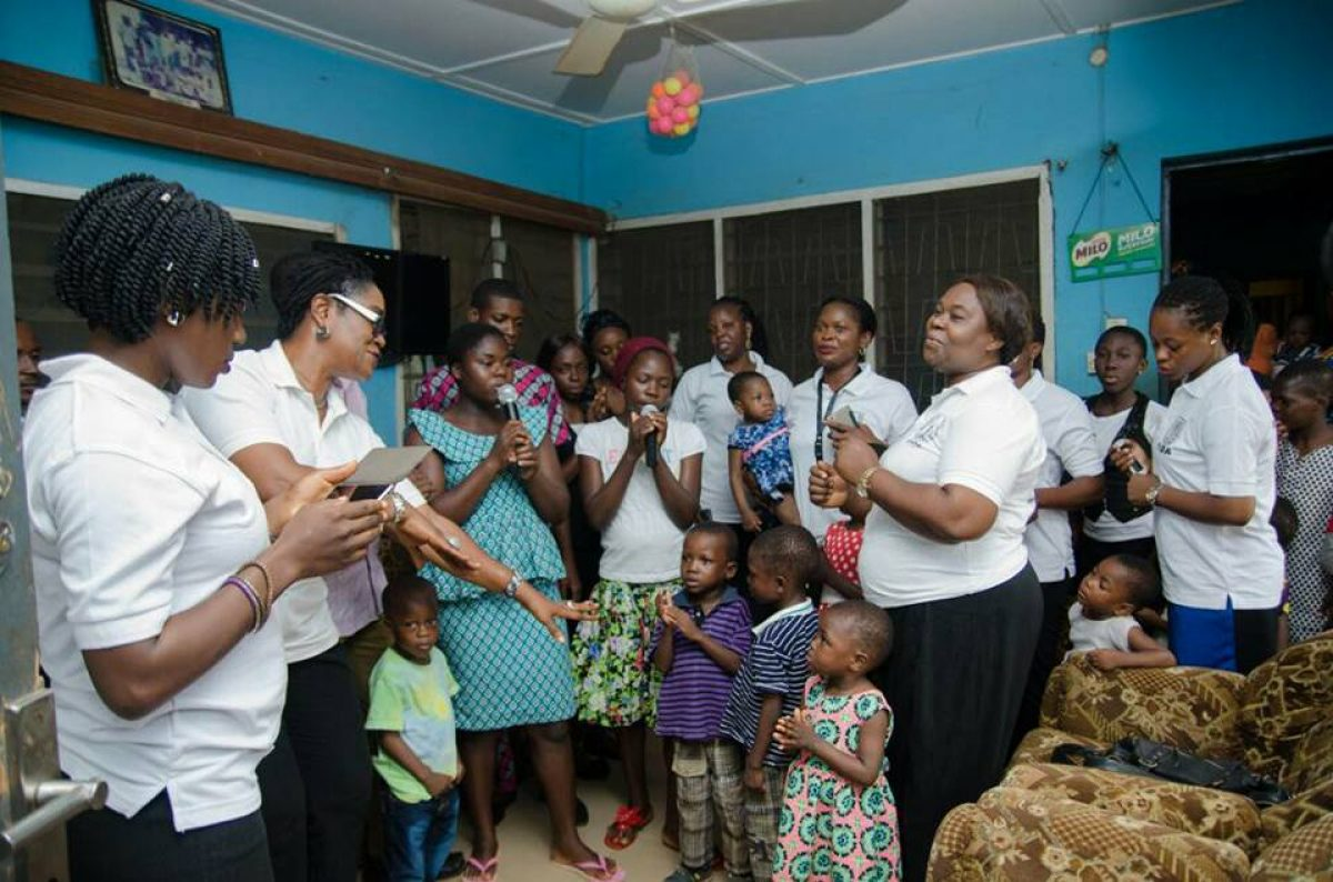 Visit to Children home at Oba-ile, Akure.