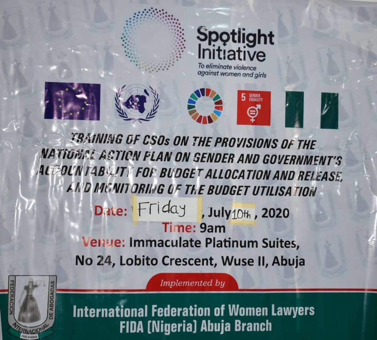 FIDA Nigeria in collaboration with the Spotlight Initiative host a training of CSOs on the provisions of National Action Plan on Gender in the FCT