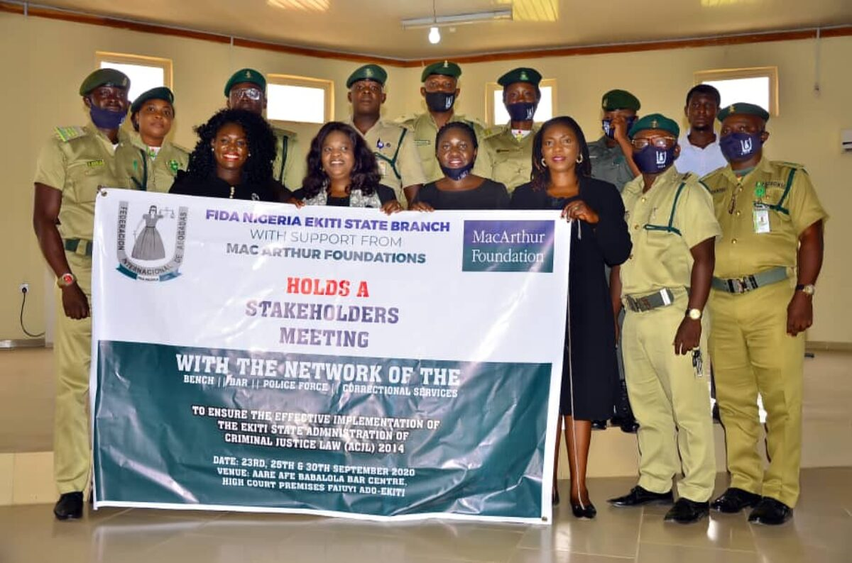 FIDA Ekiti Hosts a Stakeholders' Meeting on the Administration of the Criminal Justice Law