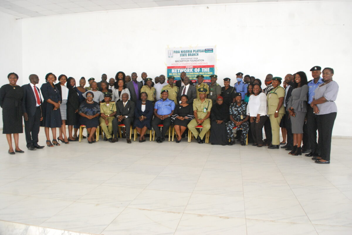FIDA Plateau Hosts a Stakeholders' Meeting on the Administration of the Criminal Justice Law