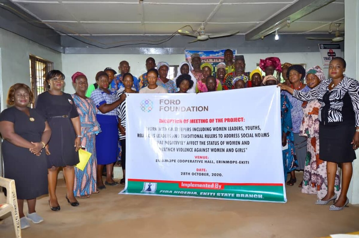 FIDA Nigeria, Ekiti State Branch held a Ford Foundation Project Inception Meeting