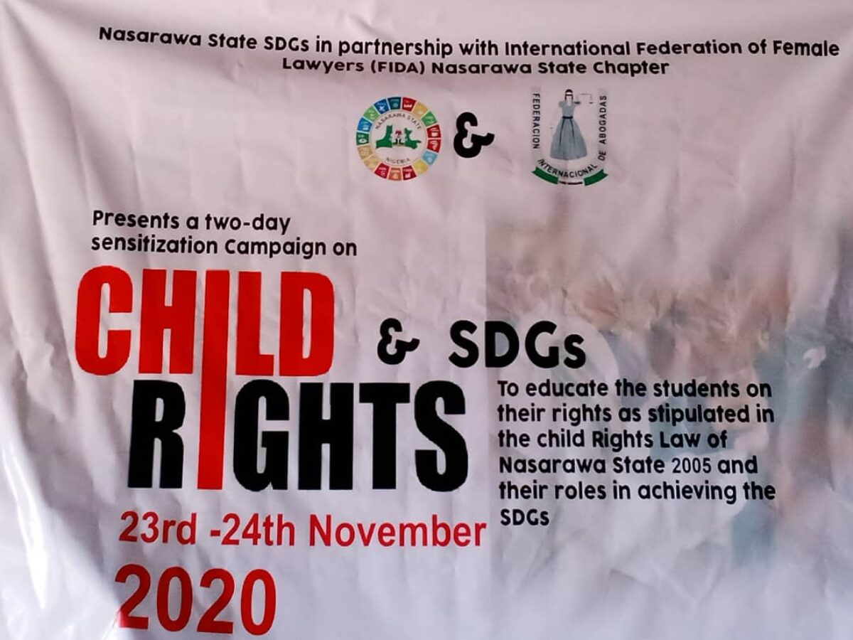 FIDA Nasarawa Commemorate 16days of Activism 2020