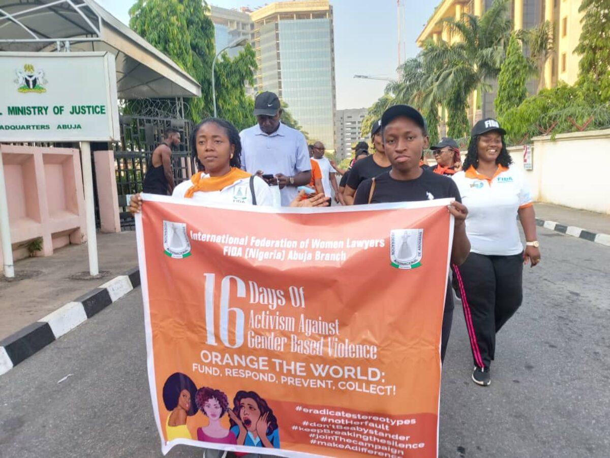 FIDA Abuja Advocacy Road Walk Against GBV